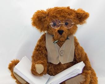 Hand Made Mohair Teddy Bear The Professor