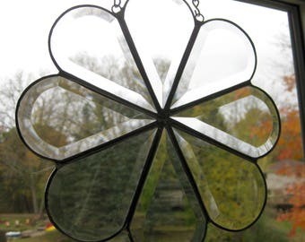 Hand made beveled stained glass art