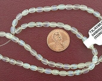 6x4  rice gemstone very light pineapple quartz beads