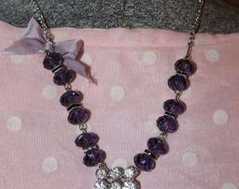 Beautiful Amethyst Vintage Purple Necklace