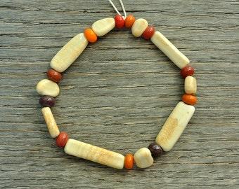 30% off - Ivory pebbles - Lampwork beads by Loupiac