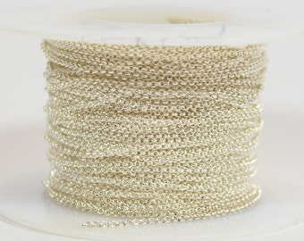 1mm Rolo Chain - Silver Plated - 1.0mm Links - CH130