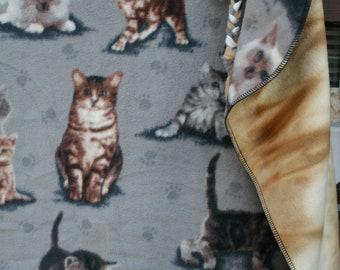 CATS Kittens Gray Small Blanket. Sales Benefit MCAR