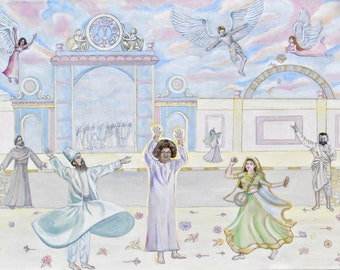 GICLEE ART PRINT Sathya Sai Baba - God is Our Best Friend