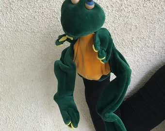 Hand Puppet Frog Montessori Handmade