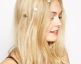 Hair pin, Gift for mom, Gift for wife, Gift, Star Bobby Pins, Gold Bobby Pins, Star Hair Clip, Star hair Pins, Gold Hair Clip, Gift