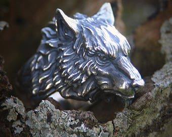 Alpha Wolf Ring - Silver