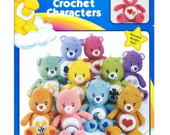 Care bears vintage crochet Pdf  Pattern - amigurumi care bears from 1980
