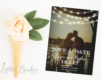 Custom Photo Save the Date Cards - Digital or Printed Design
