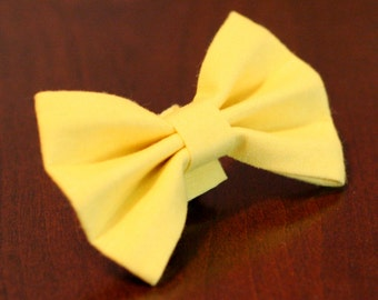 Ready To Ship -Yellow Bow Tie for Dog or Cat Small or Medium Available