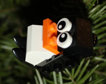 Build Your Own LEGO Penguin Ornament