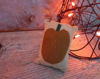 primitive fall pumpkin ornie pillow ornament bowl filler tucks home decor Halloween harvest thanksgiving