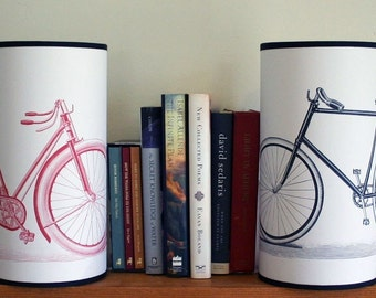 HAPPY BIKE COUPLE Lamps One Year Paper Anniversary GIFT
