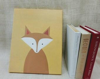 Fox Baby Kids Room Canvas Original Acrylic Painting 11×14