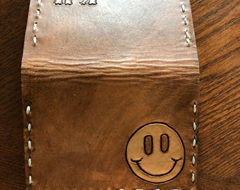 Small Bi Fold Leather Wallet