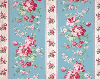 78061 -1/2 yard of Verna Mosquera - Rosewater - Climbing Blooms in Pool