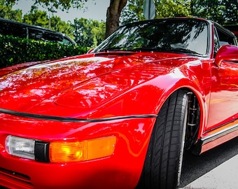 1989 Porsche 930 Slant Nose Turbo Car Photography, Automotive, Auto Dealer, Muscle, Sports Car, Mechanic, Boys Room, Garage, Dealership Art