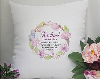 Personalised Cushion Cover - Floral