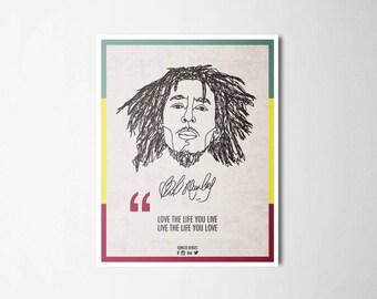 Ilustrattion-Influencers Bob Marley