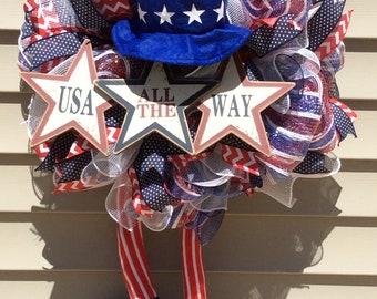 Uncle Sam Patriotic Wreath