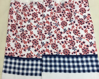 Red, White & Blue Kitchen Towel set of 2