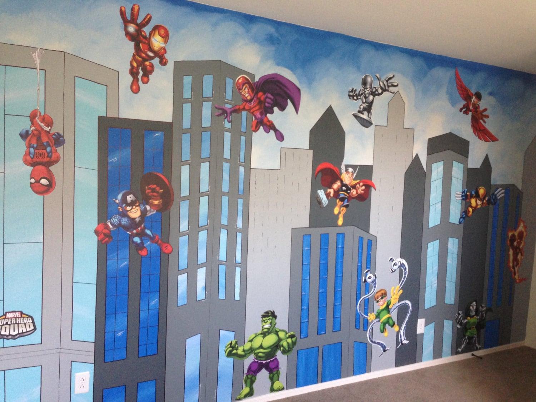 Superhelden-Wandbild Leinwand Wandbild Superhelden-Malerei