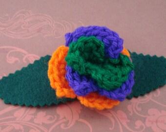 Crocheted Rose Bar Pin - Villain (SWG-PS-VIJK01)
