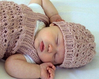 Download Now - CROCHET PATTERN Lace Confection Hat - Baby to Adult - Pattern PDF