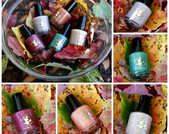 MINI Fall 2016 Blogger Collab Collection with optional scents - holographic fall custom nail polish