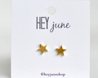 Tiny gold star earrings, star earrings, gold star stud earrings, fourth of july earrings, minimalist earrings, silver star stud earrings