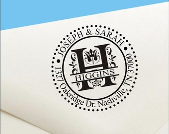 Personalized Monogram Stamp, Custom Address Stamp, Self Ink Return Address Stamp, Personalized Address Stamp, Self Ink Custom Address Stamp