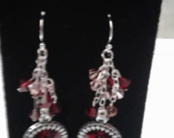 Cranberry dance earrings