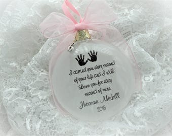 Miscarriage Christmas Ornament - I Carried You Every Second of Your Life - Free Personalization and Charm