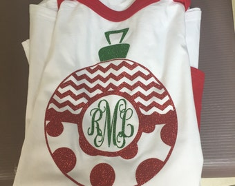 Personalized Christmas ornament shirt