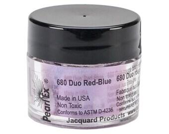 Pearl Ex powdered pigment, Duo Red-Blue, 3 gram jar