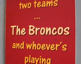 Brisbane Broncos Versus Manly Rugby League Footy Sign Bar Pub Man Cave
