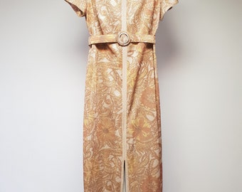 Amazing 60's gold lurex maxi dress