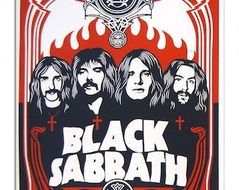 Black Sabbath Vintage Red Raglan Baseball T-shirt