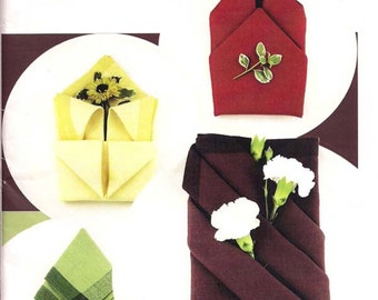 Simple Napkin Folds pattern by Fabric Origami