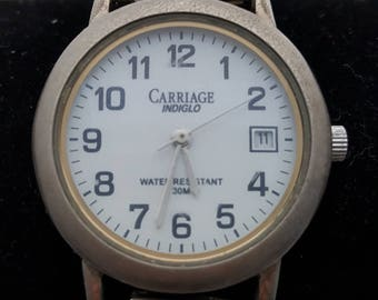 SALE-Timex lighted/ Indiglo watch date with Speidel vintage expandable Sports watch, Water Resistent new battery