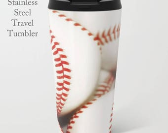 Baseball Travel Mug-Travel Tumbler-Coffee Mug-15 oz Mug-To Go Mug-Baseball Coffee Mug-Insulated Travel Mug-Personalized Mug-Baseball Tumbler