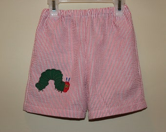 The Hungry Catepillar Appliqued Shorts for Infants, Toddlers, and Youth