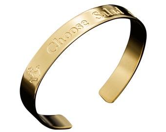 Custom Bracelet, Quote Bracelet, Personalized Cuff, Personalized Bracelet, Personalized Jewelry, Engraved gold bracelet, Engraved bracelet