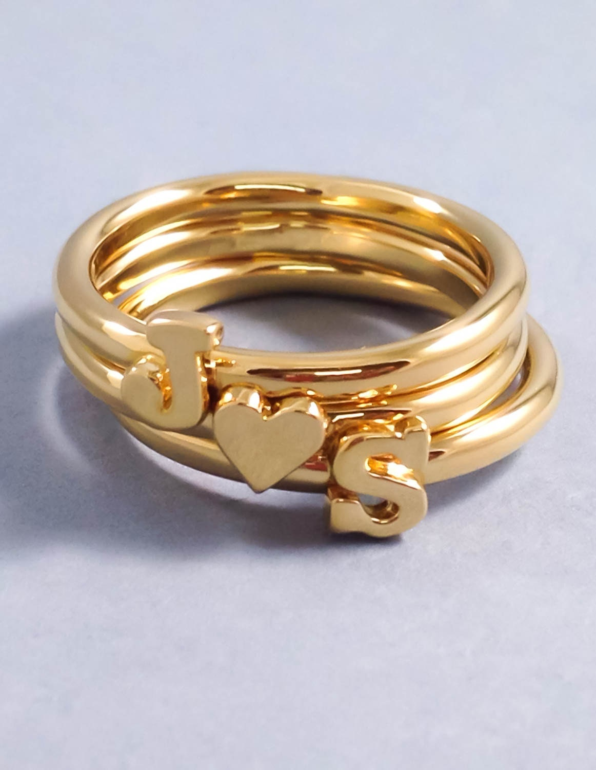 Fabulous Girlfriend Gift Valentine's Gift Gold Letter Ring RV11