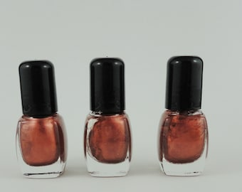 Nail Polish Tryst Copper Bronze Brown  Vegan nails free from harsh chemicals indie nail polish