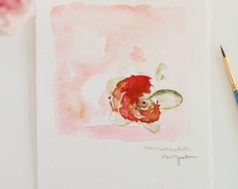 Ranunculus original watercolor painting
