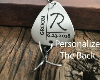 Personalized Initial Groom Fishing Lure Gift Wedding Gift For The Groom Fishing Lure Gift for Engaged Fisherman Gift For Man Of Honor Lure