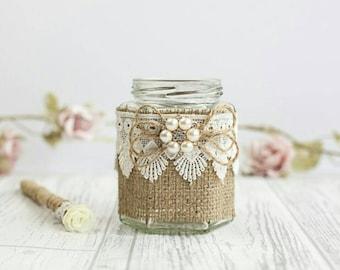 wedding pen holder, burlap pen holder, Rustic wedding decorations, guest book pen holder, country wedding, wedding accessories