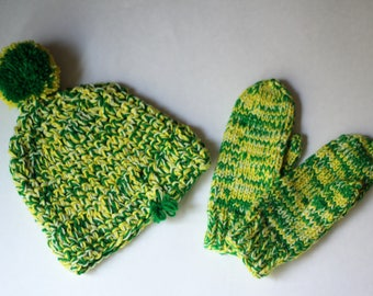 Homemade Hat & Mitts (2 Piece set)