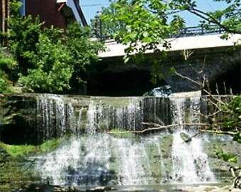 Chagrin Falls Photograph, Chagrin Falls Summer, Cleveland, Jean Schnell Photography, prints, mini photo, uniquely framed, small gifts